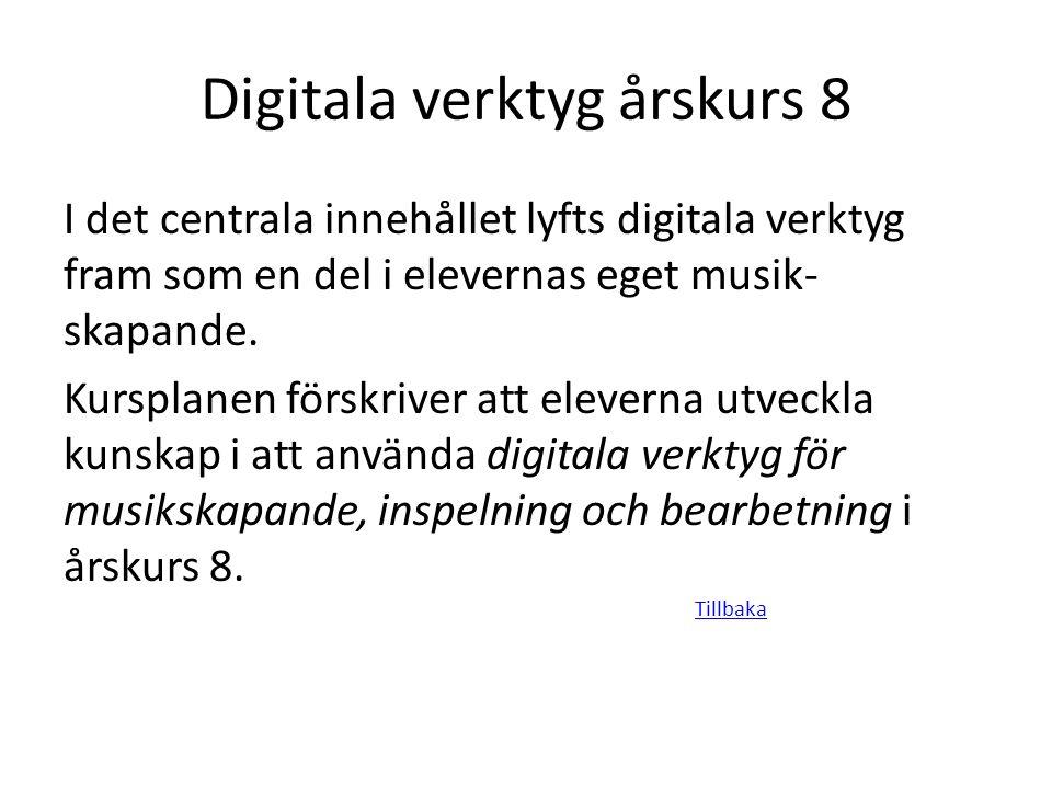 Digitala verktyg årskurs 8