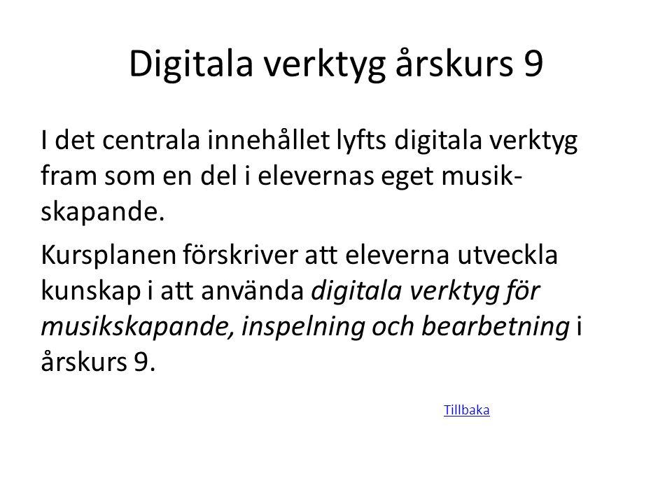 Digitala verktyg årskurs 9