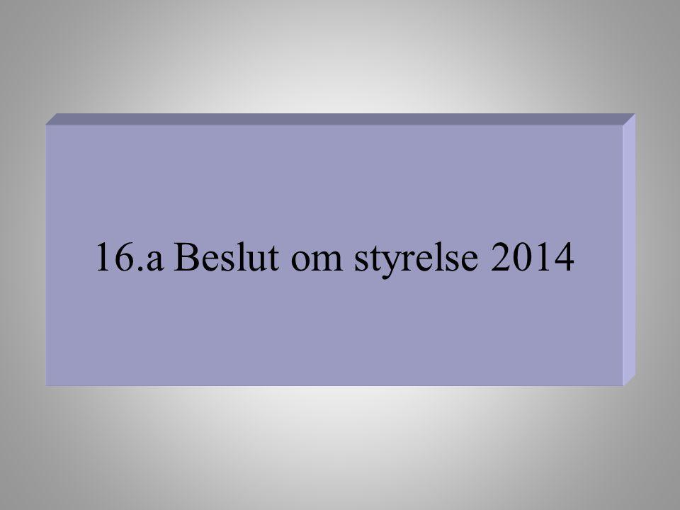16.a Beslut om styrelse 2014