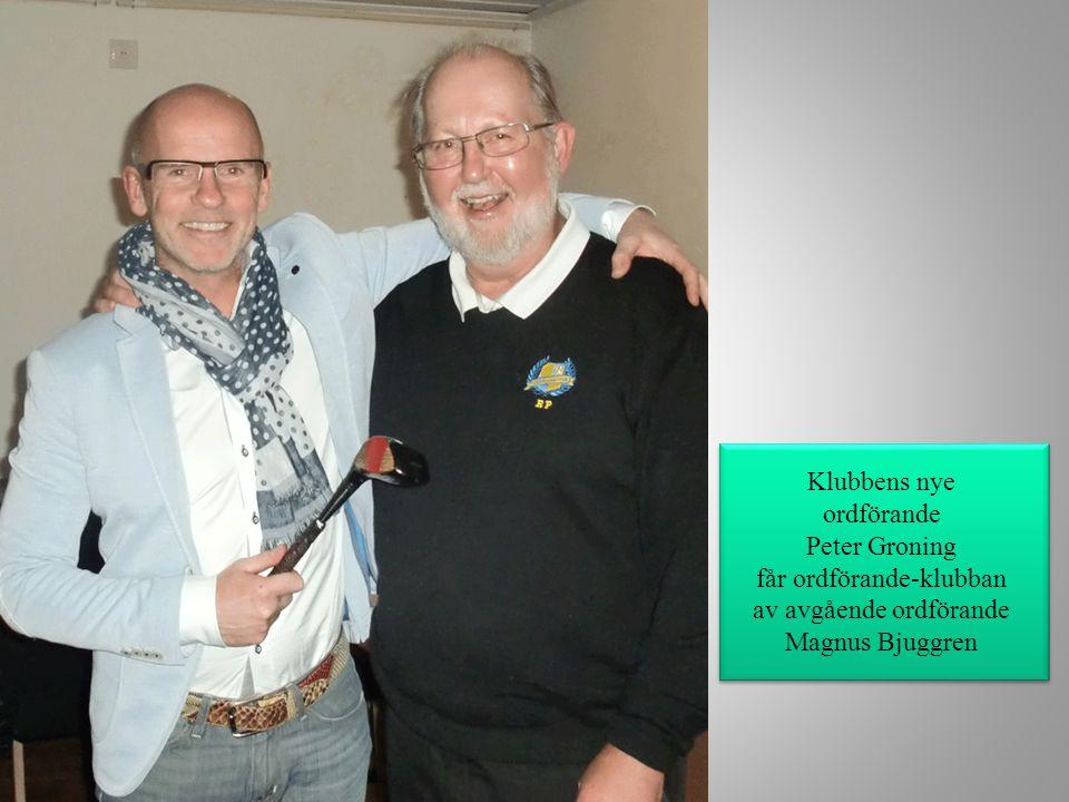 Klubbens nye ordförande Peter Groning