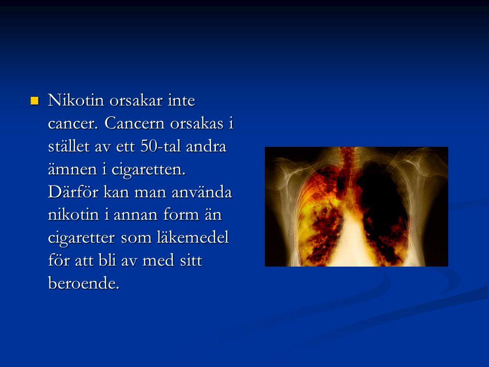 Nikotin orsakar inte cancer