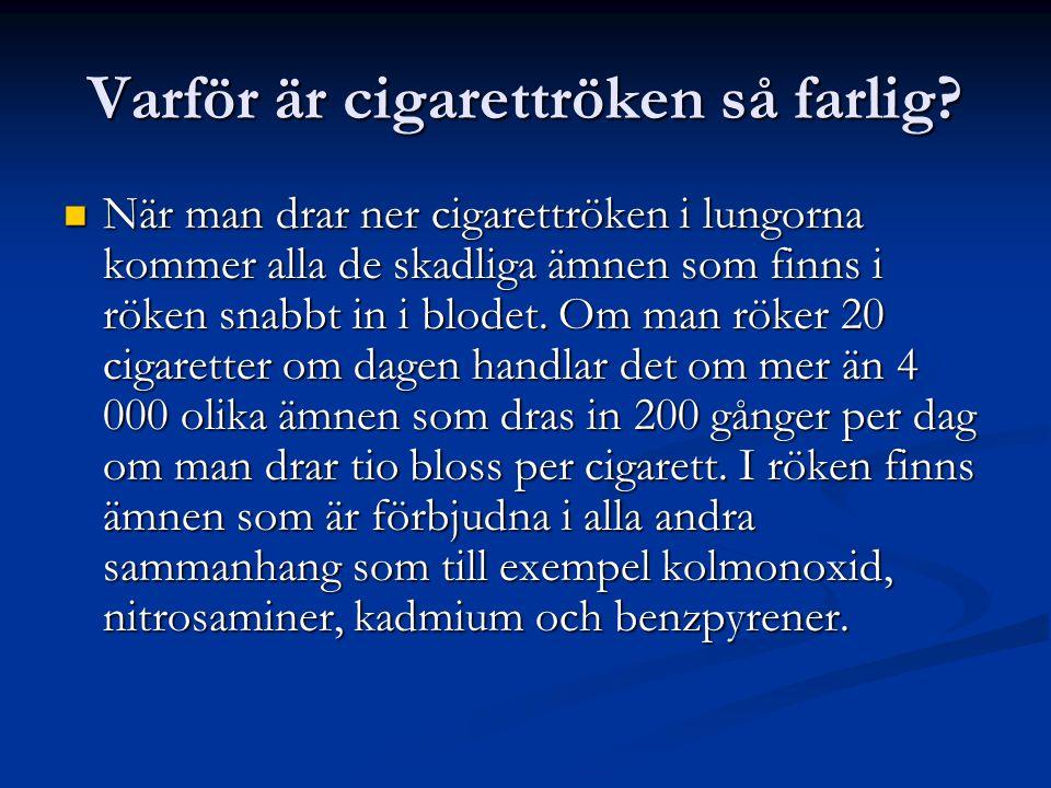 Varför är cigarettröken så farlig