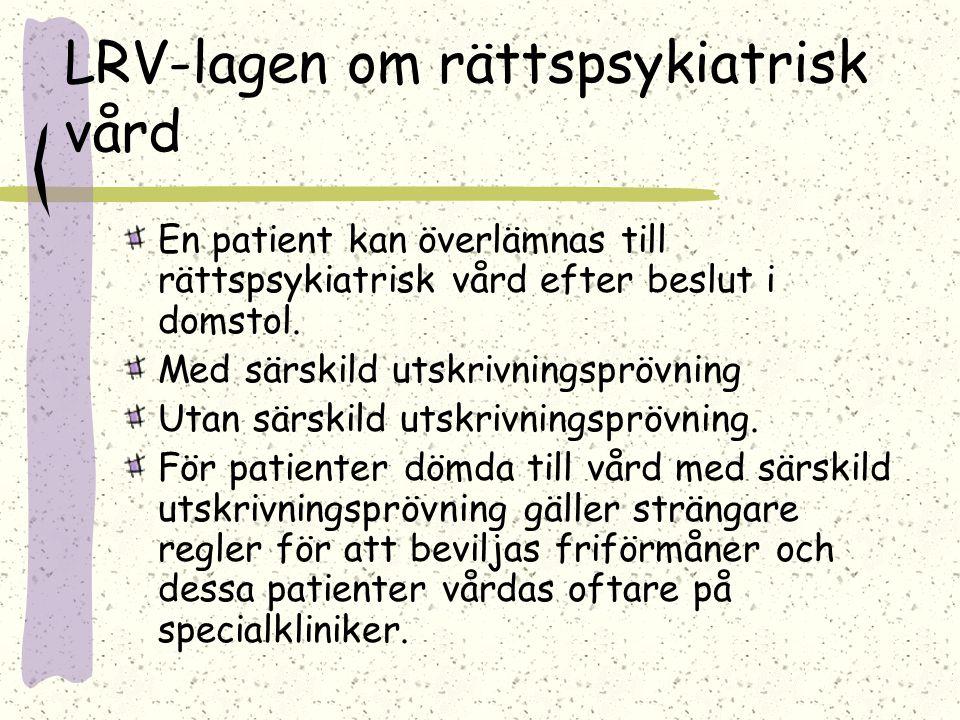 LRV-lagen om rättspsykiatrisk vård