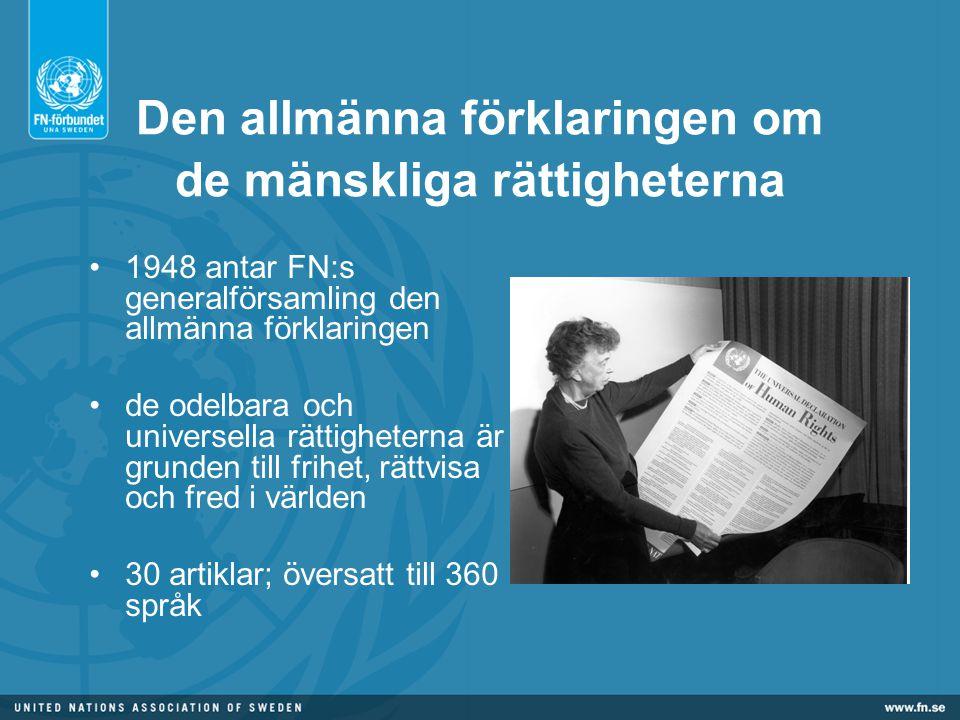 Den allmänna förklaringen om de mänskliga rättigheterna