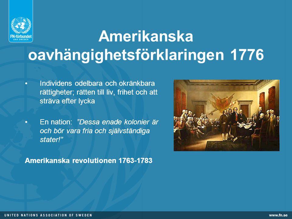 Amerikanska oavhängighetsförklaringen 1776