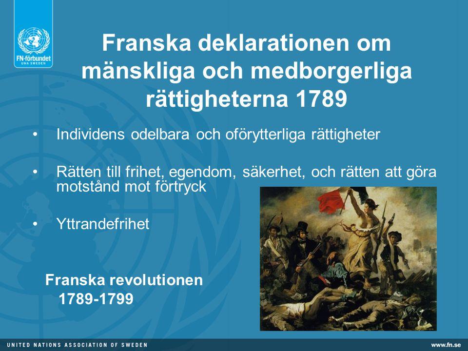 Franska deklarationen om mänskliga och medborgerliga rättigheterna 1789