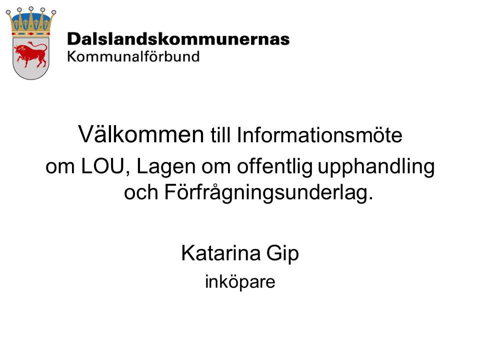 Välkommen till Informationsmöte