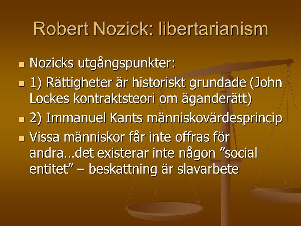 Robert Nozick: libertarianism