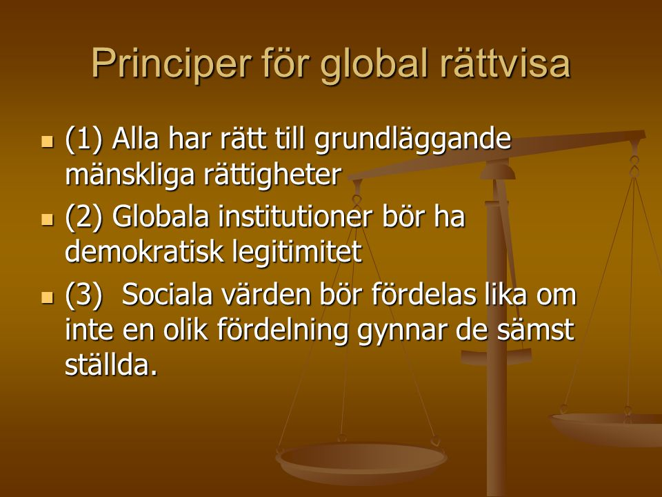 Principer för global rättvisa