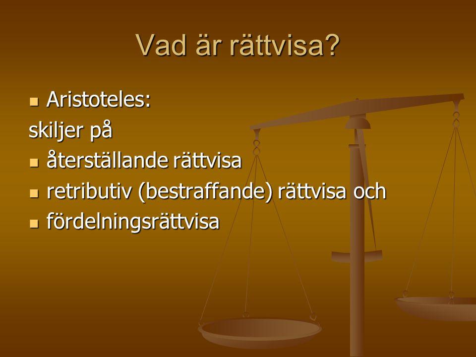 Vad är rättvisa Aristoteles: skiljer på återställande rättvisa