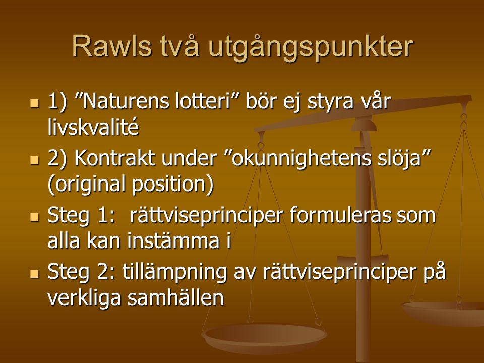 Rawls två utgångspunkter