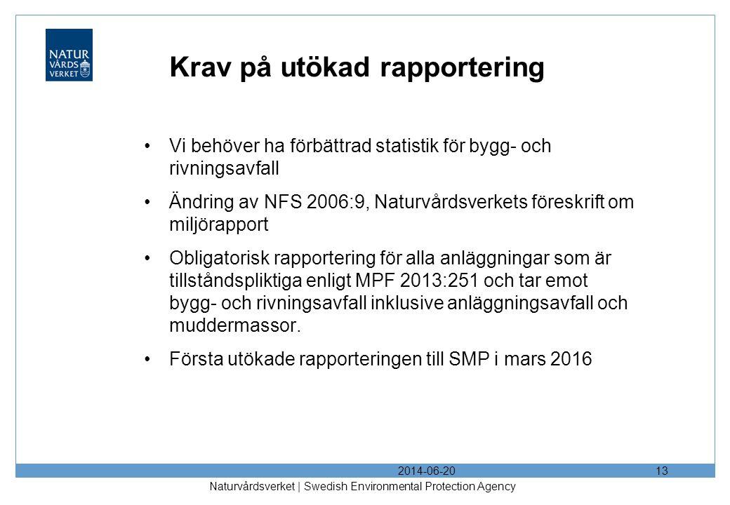Krav på utökad rapportering