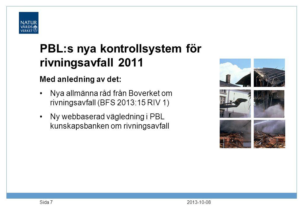 PBL:s nya kontrollsystem för rivningsavfall 2011