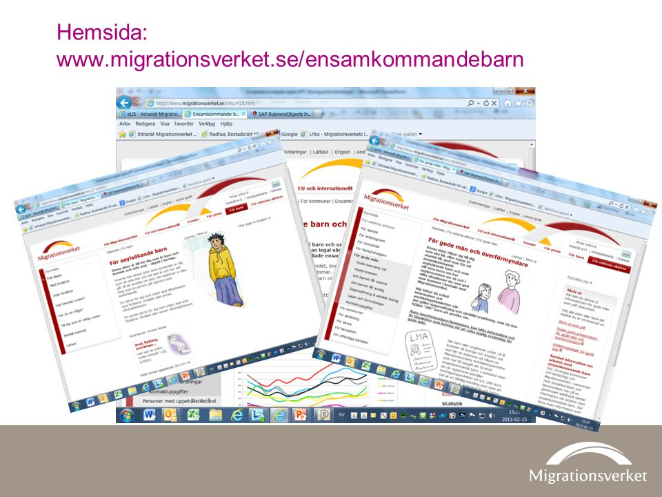 Hemsida: www.migrationsverket.se/ensamkommandebarn
