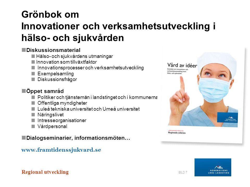 Grönbok om Innovationer och verksamhetsutveckling i hälso- och sjukvården