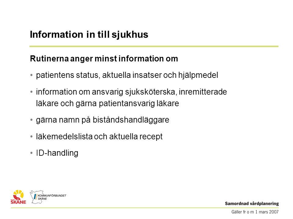 Information in till sjukhus