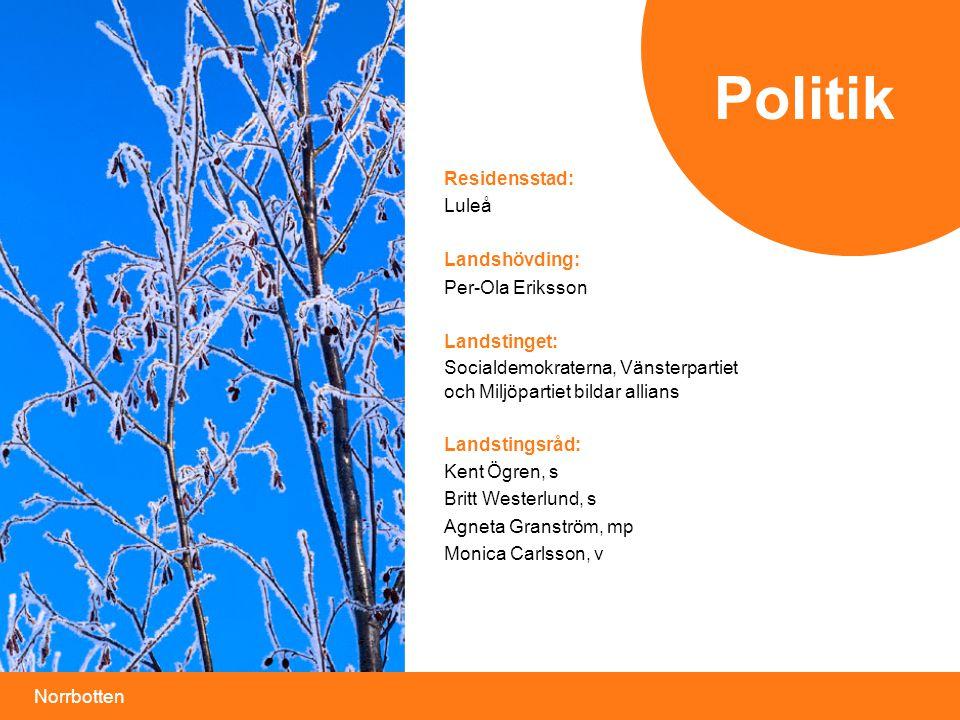 Politik Residensstad: Luleå Landshövding: Per-Ola Eriksson