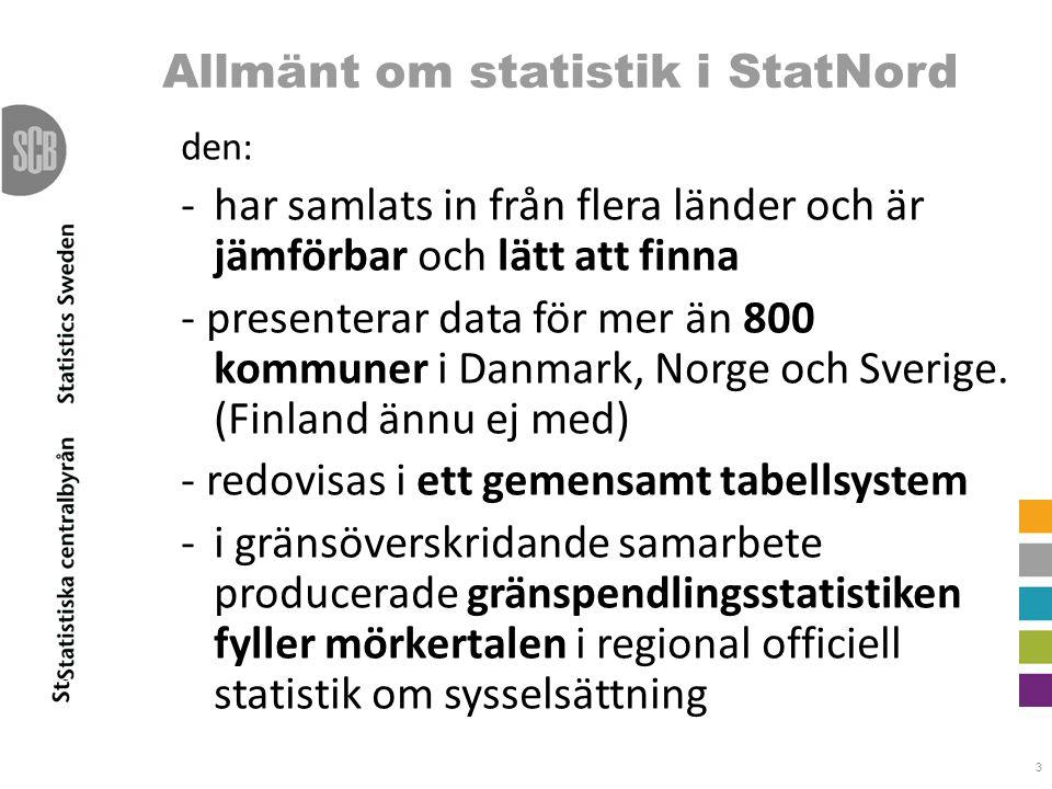 Allmänt om statistik i StatNord