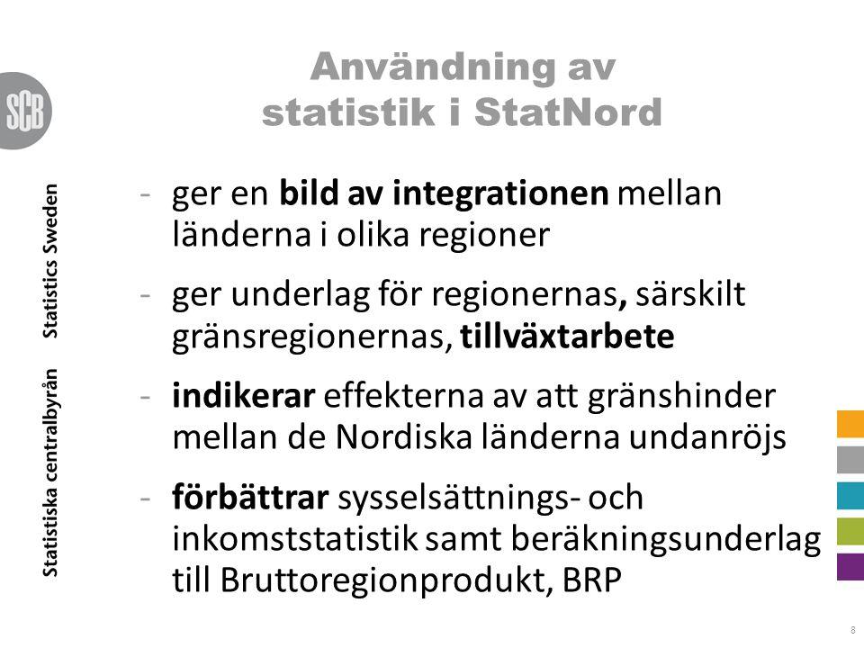 Användning av statistik i StatNord