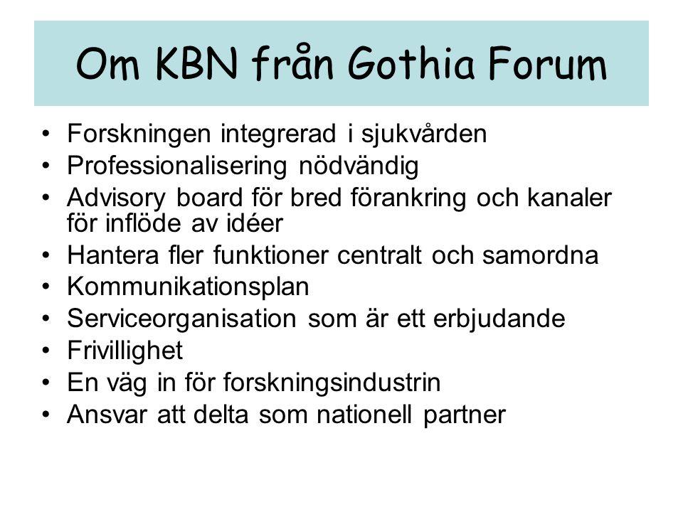 Om KBN från Gothia Forum