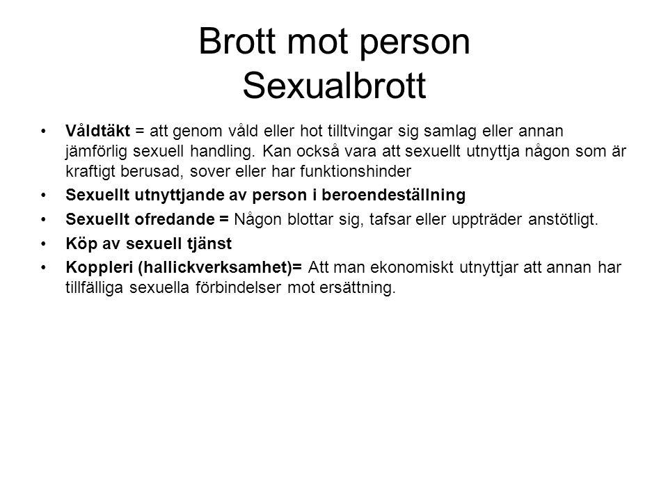Brott mot person Sexualbrott