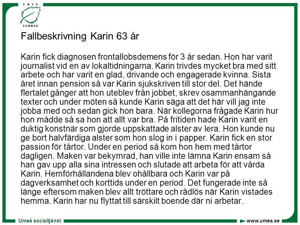 Fallbeskrivning Karin 63 år