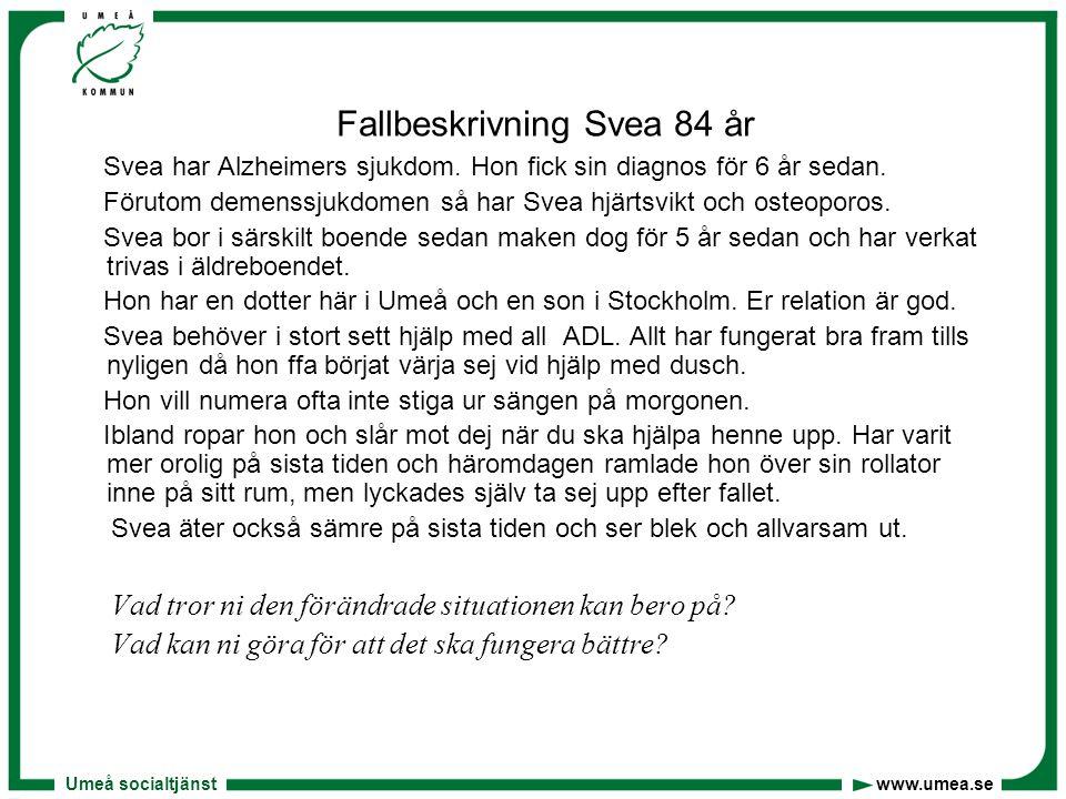Fallbeskrivning Svea 84 år