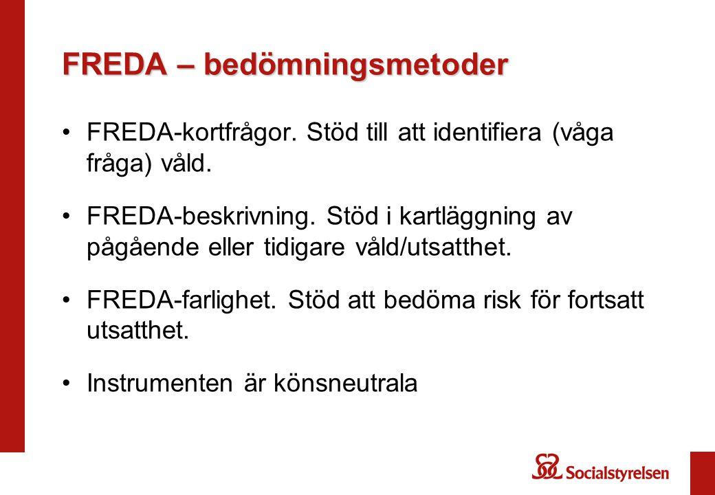 FREDA – bedömningsmetoder