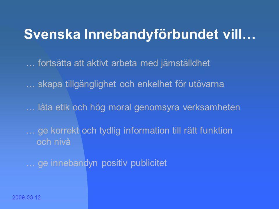 Svenska Innebandyförbundet vill…