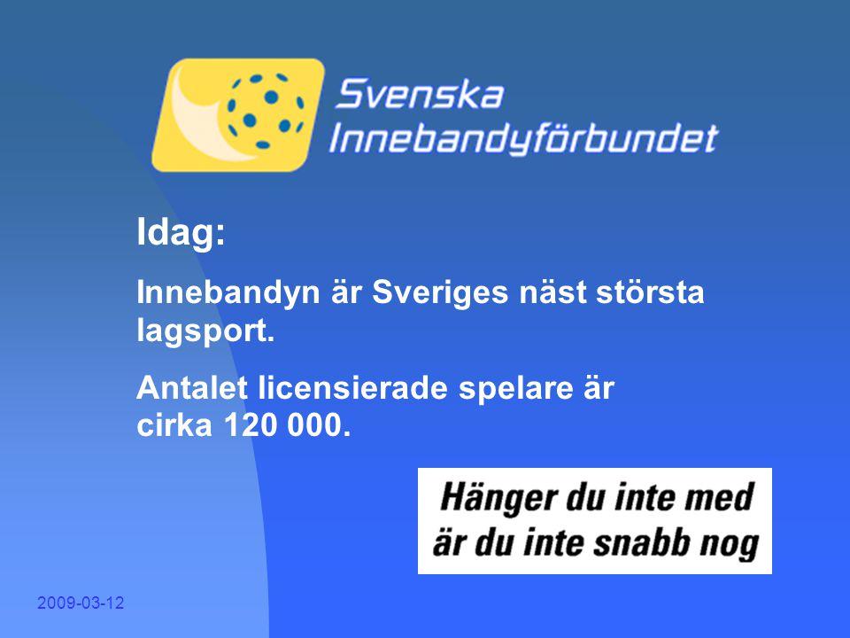 Idag Idag: Innebandyn är Sveriges näst största lagsport.