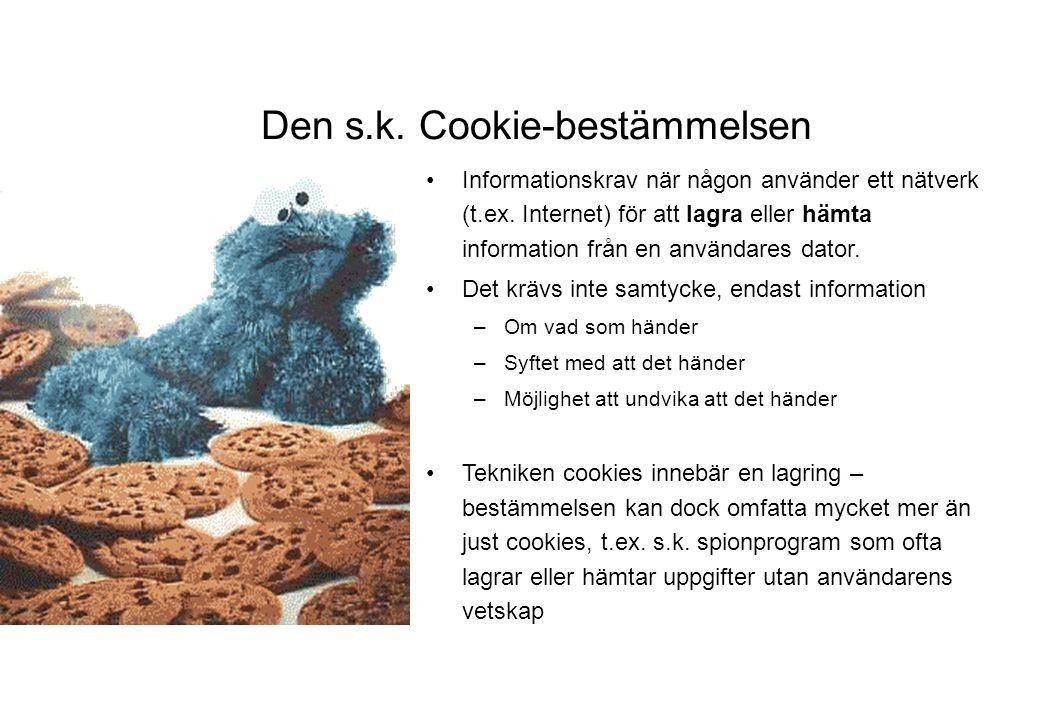 Den s.k. Cookie-bestämmelsen