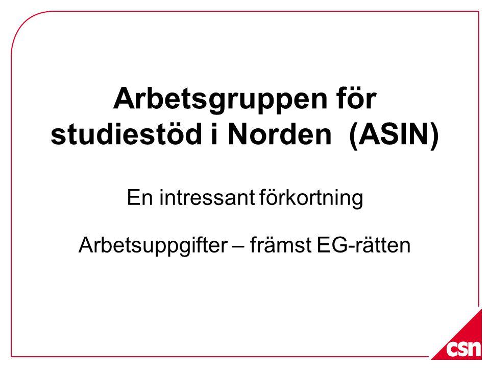 Arbetsgruppen för studiestöd i Norden (ASIN)