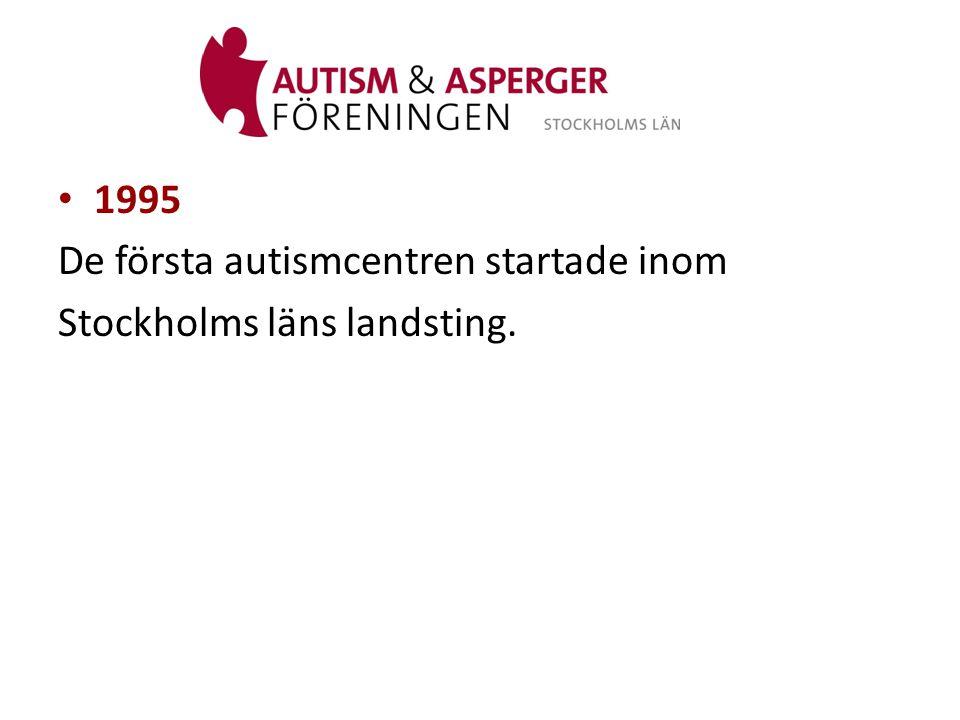 1995 De första autismcentren startade inom Stockholms läns landsting.