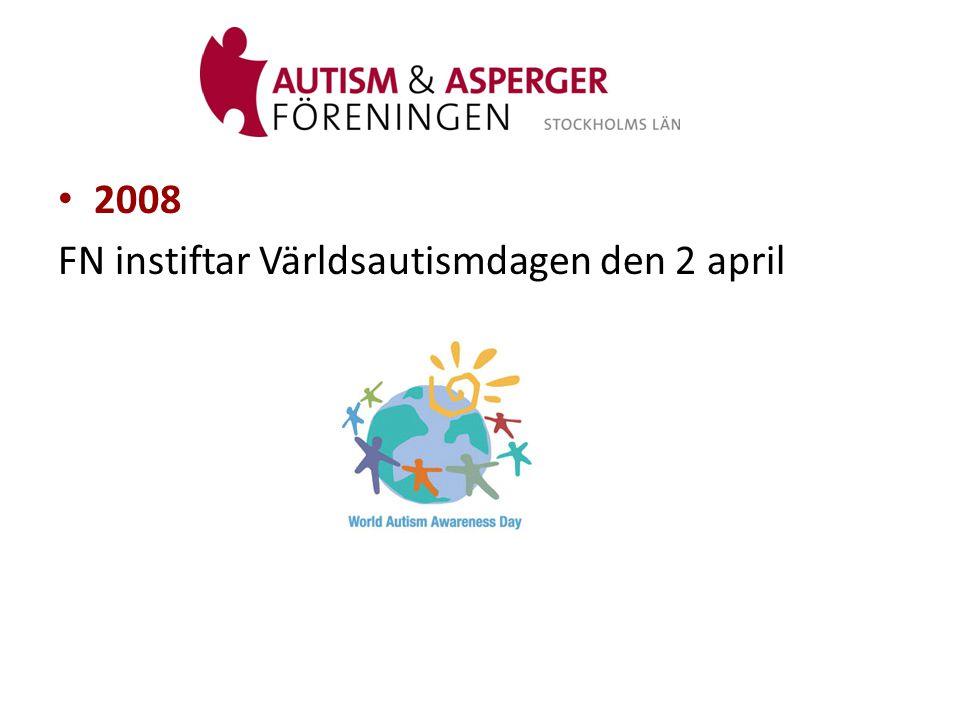 2008 FN instiftar Världsautismdagen den 2 april