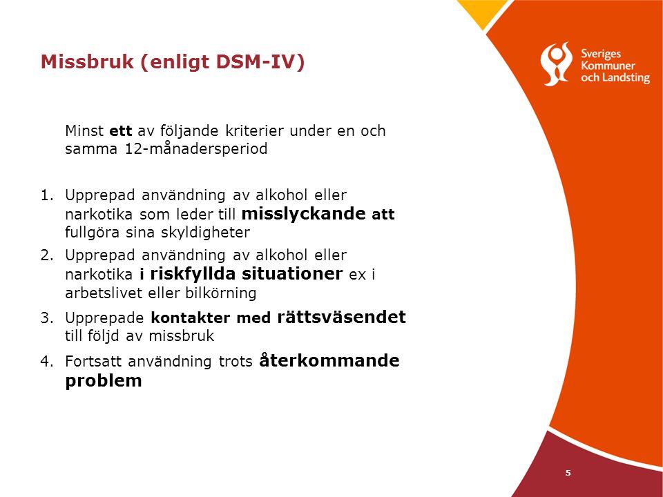 Missbruk (enligt DSM-IV)