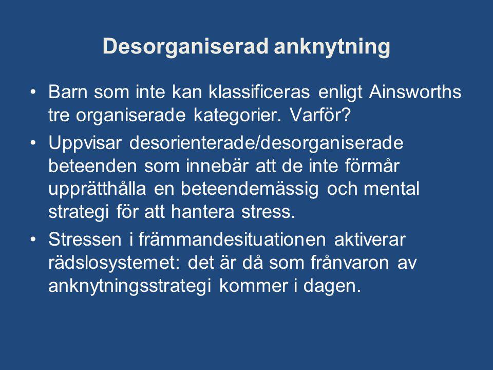 Desorganiserad anknytning