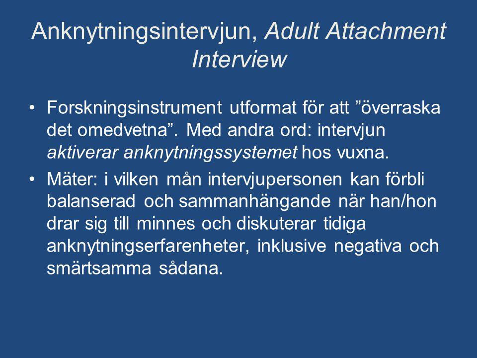 Anknytningsintervjun, Adult Attachment Interview