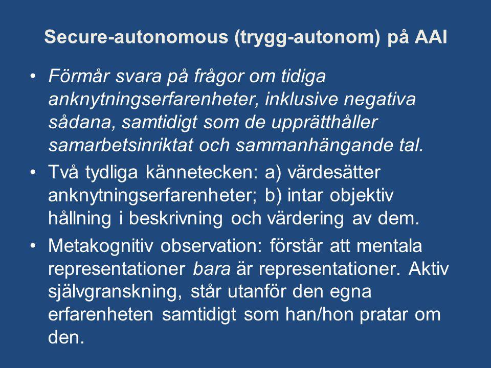 Secure-autonomous (trygg-autonom) på AAI