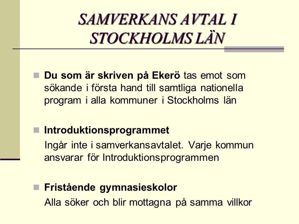 SAMVERKANS AVTAL I STOCKHOLMS LÄN