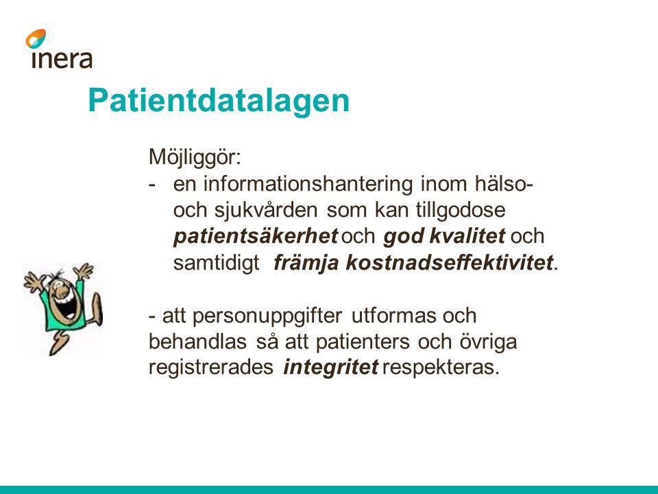 Patientdatalagen Möjliggör: