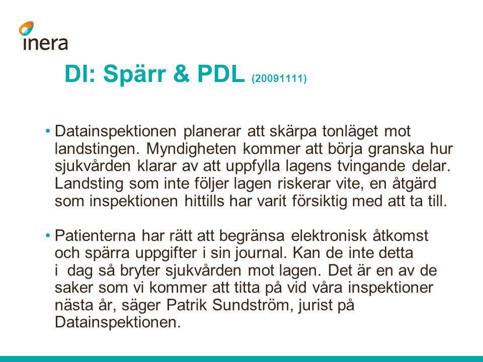 DI: Spärr & PDL (20091111)