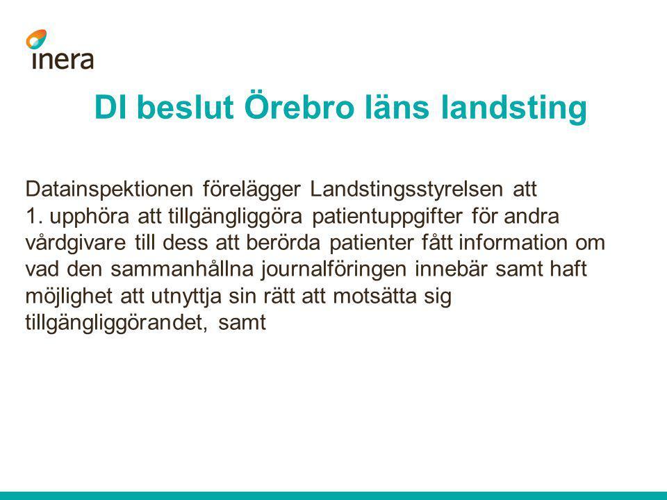 DI beslut Örebro läns landsting