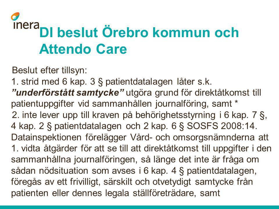 DI beslut Örebro kommun och Attendo Care