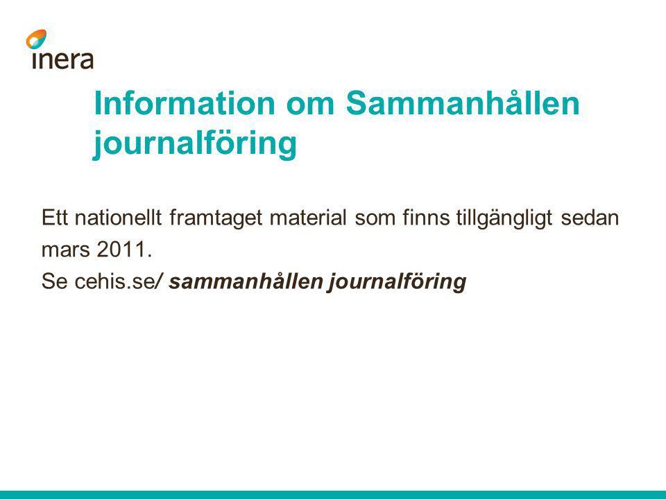Information om Sammanhållen journalföring