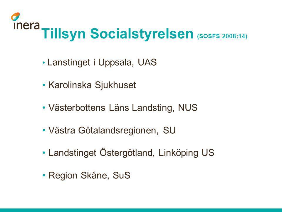 Tillsyn Socialstyrelsen (SOSFS 2008:14)