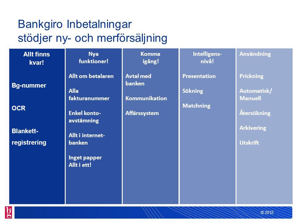 Bankgiro Inbetalningar stödjer ny- och merförsäljning