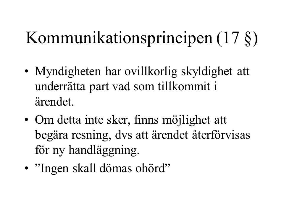 Kommunikationsprincipen (17 §)
