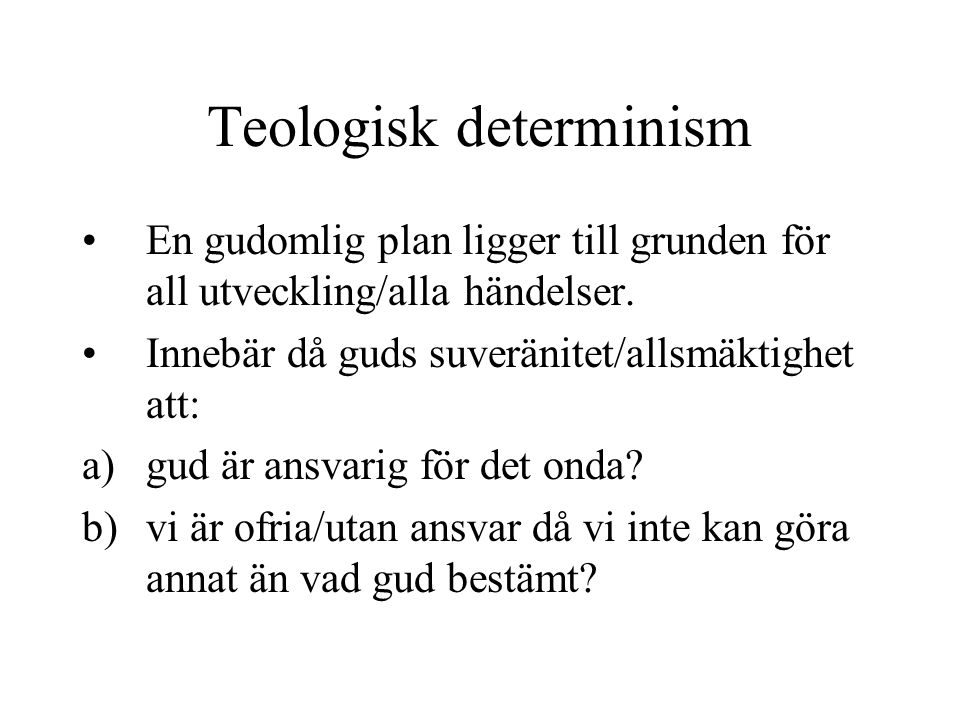 Teologisk determinism