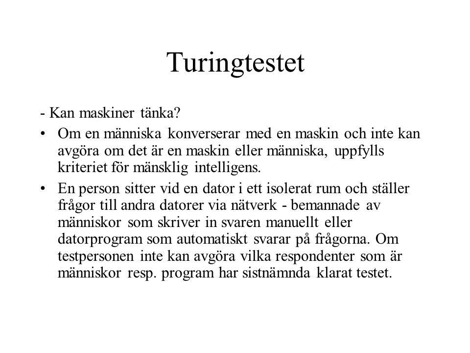 Turingtestet - Kan maskiner tänka