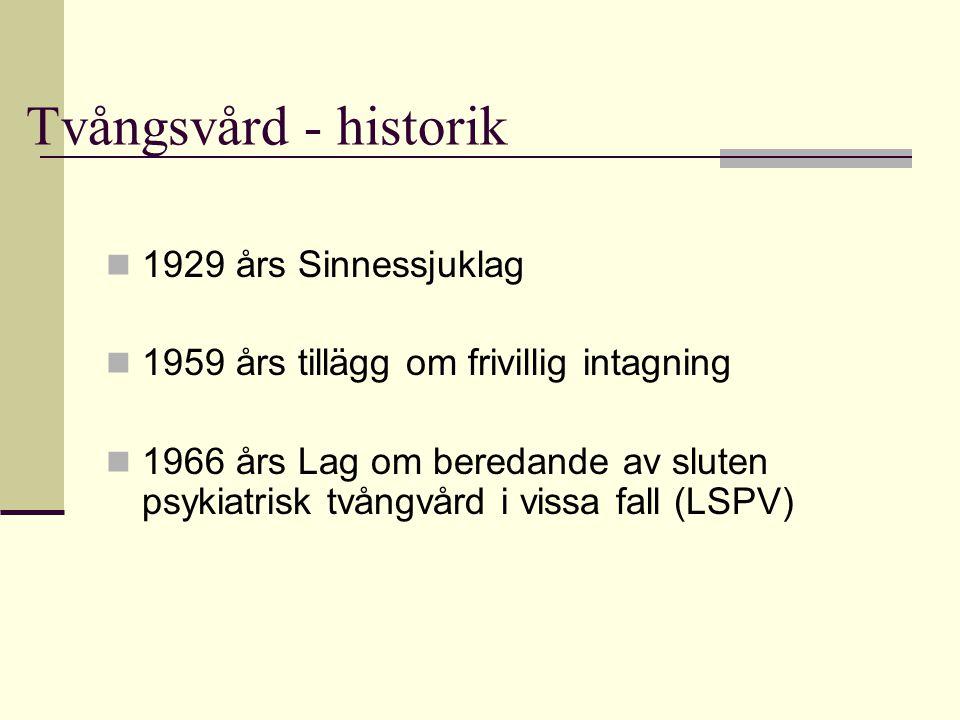 Tvångsvård - historik 1929 års Sinnessjuklag